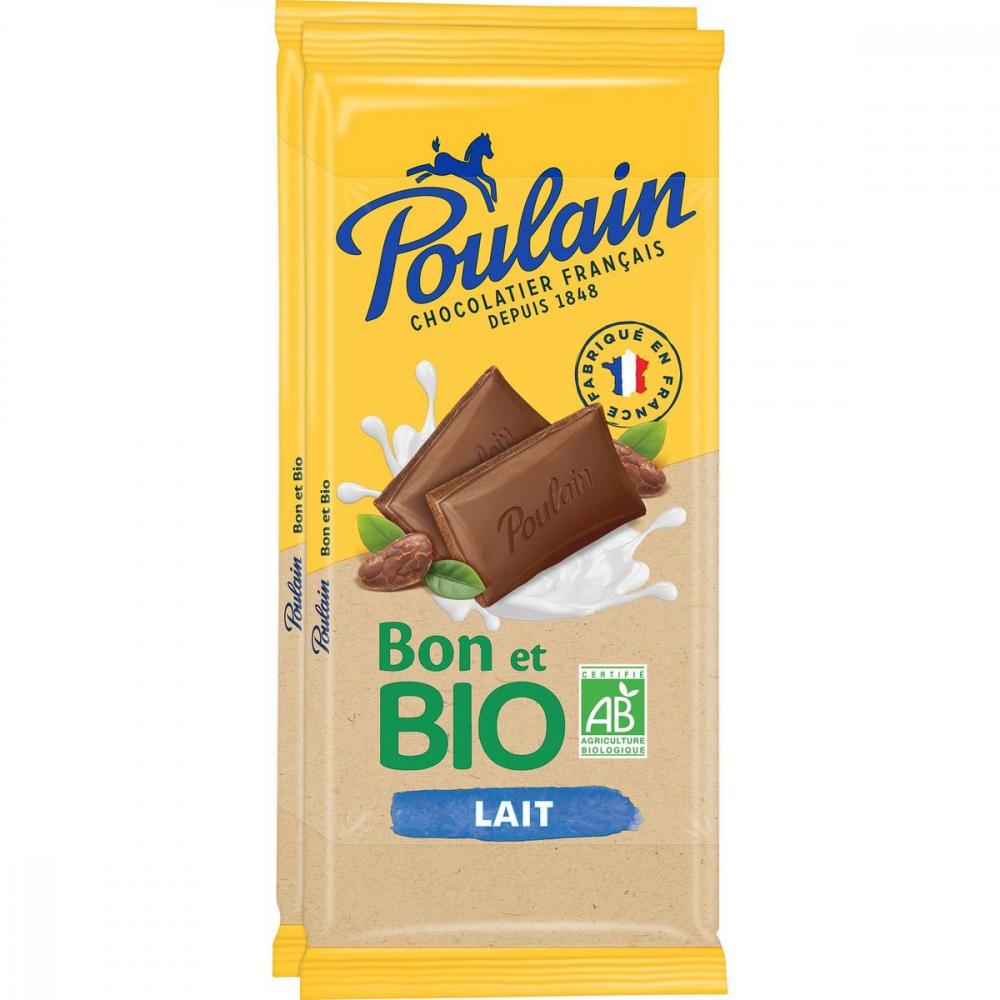 Poulain Lait Bio 2x85g