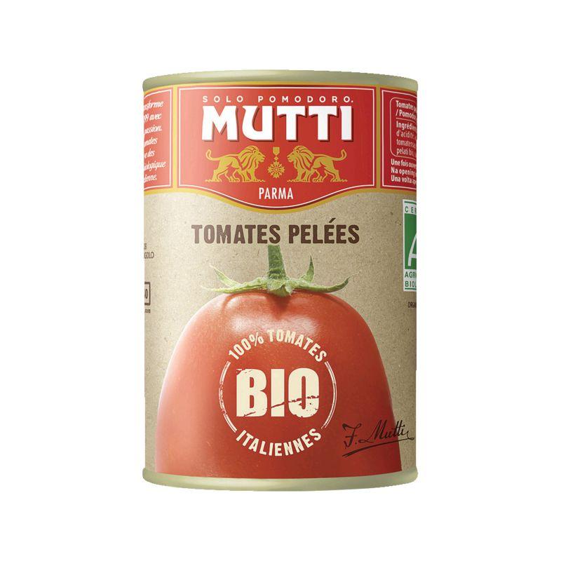 Tomates Pelees Mutti Bio 400g