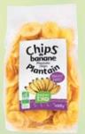 Chips de banane plantain bio sucrées
