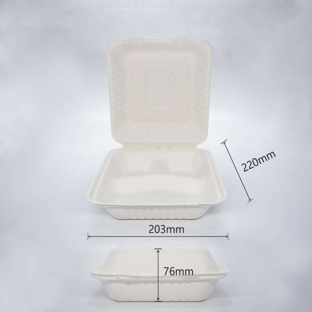 """Boîte à Hamburger de 8"""" à trois compartiments (800ml)"""