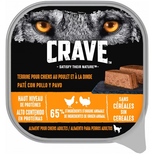 Crave Terr.dinde Chiens 300g