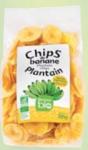 Chips de banane plantain bio salées