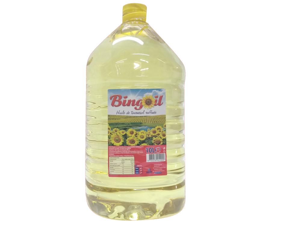 Huile de tournesol 100% raffiné 10L - BINGOIL
