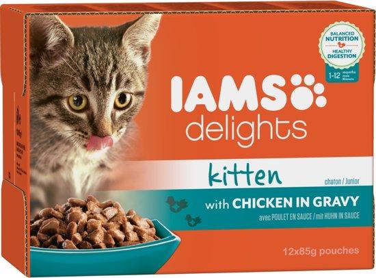 Iams Cat Delight Kiten Grvy 12