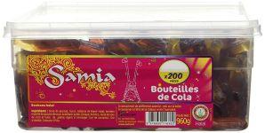 Bonbons Cola lisses Tubos 200 Pièces 960g Samia