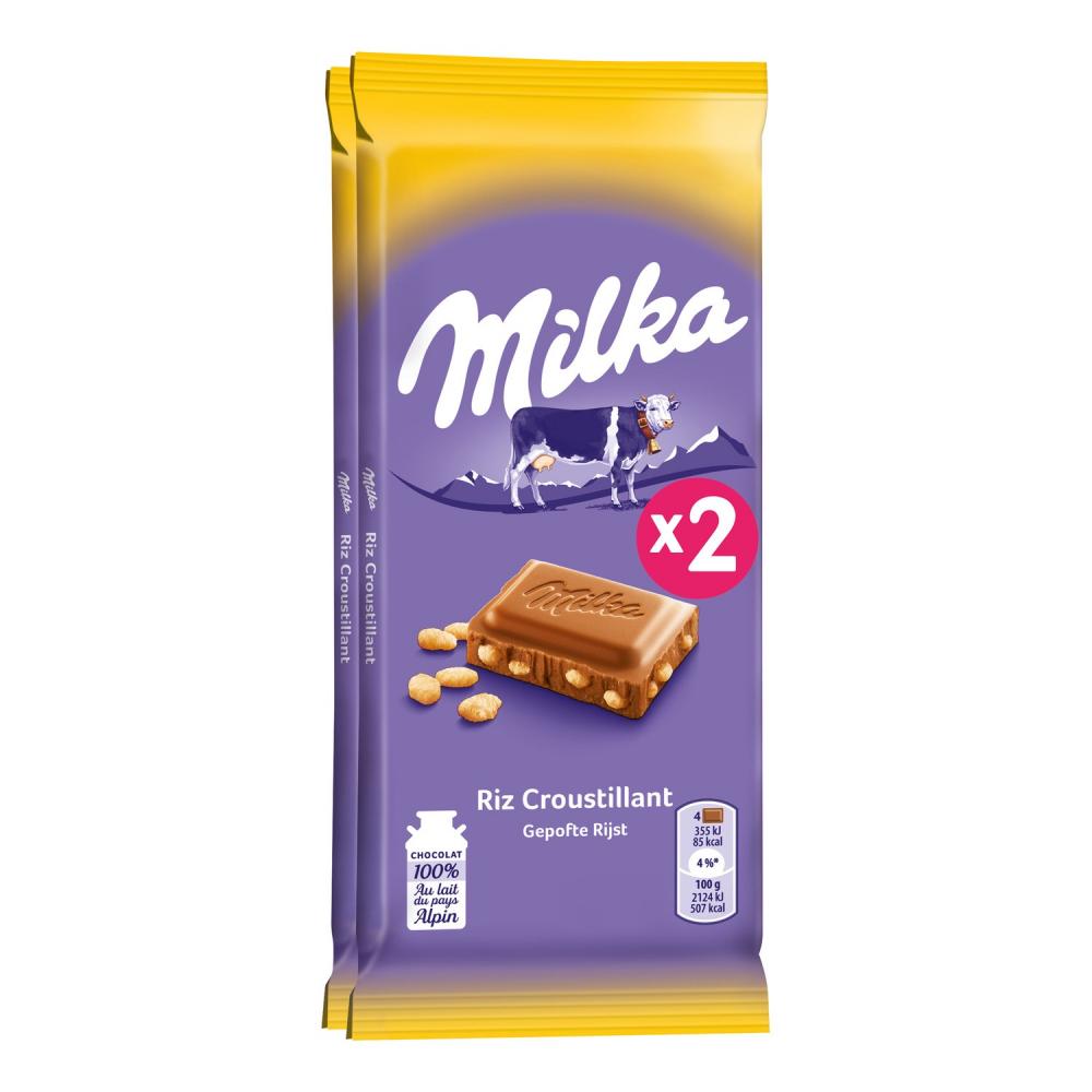 Milka Familial Riz 2x100g