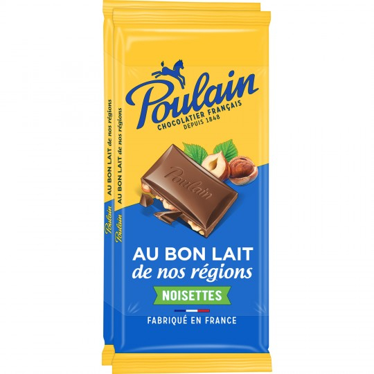 Tab Poulain Lait Nois 2x95g