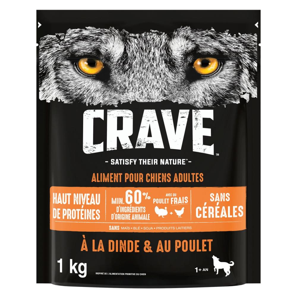 Crave Croq.plt Chiens Adult1kg